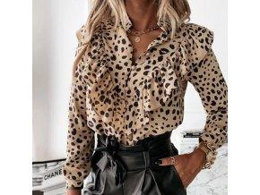 Oblečenie - blúzka - dámska elegantná blúzka s volánikmi s rôznymi vzormi - dámske blúzky - výpredaj skladu