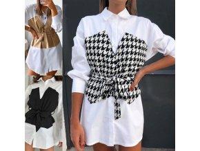 Oblečenie - šaty - dámske košeľové šaty so zaujímavým zdobením - dámske šaty - košeľové šaty