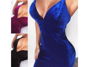 Dámske oblečenie - šaty - dámske sexy semišové šaty na ramienko - dámske šaty - spoločenské šaty