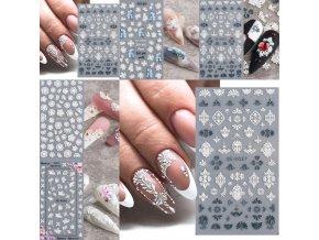Nechty - gélové nechty - krásne nalepovacie ozdoby na nechty - modeláž nechtov - samolepky