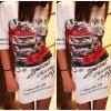 Stylové dámské letní slim šaty + DOPRAVA ZDARMA (Velikost XXL)
