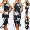Dámske elegantné šaty s kvetmi až 2XL NOVINKA (Velikost L)