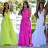Dámske letné dlhé spoločenské šaty viac fareb AKCIA (Farba Biela, Velikost S)