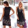 Dámske letné šaty až 5XL viac farieb (Farba Čierna, Velikost 3XL)