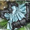 Dámske luxusné čipkovaný pyžamo viac farieb (Farba Biela, Velikost S)
