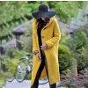 Dámsky teplý jesenný kardigan s kapucňou až 5XL (Farba Žltá, Velikost 3XL)