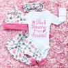 Oblečenie pre deti detské oblečenie oblečenie pre bábätká roztomilý set pre princeznú princess - body + legíny + čelenka + čiapočka (Velikost 100)