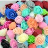 Ruže- Dekoratívne ružičky 500ks viac farieb- Kreatívne tvorenie (Farba Biela)