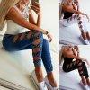 Dámske skinny džínsy s mašličkami - 3 farby