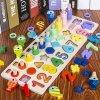 Hračky - vzdelávacie drevená hračka pre deti s číslami rybolov - montessori - matematika - darček pre deti - vianočný darček