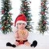Vianoce - detské oblečenie - vianočné šaty pre bábätká vhodné na fotenie - oblečenie pre bábätká - výpredaj skladu - body - oblečenie pre bábätká