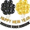 Dekorácie - nafukovacie balóniky s nápisom na oslavu nového roka - výpredaj skladu - Balóniky - silvester