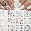 Nechty - sady dekoračných samolepiek na nechty - gélové nechty - modeláž nechtov - výpredaj skladu - darček pre ženu