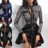 Oblečenie - šaty - elegantné dámske koženkové šaty - dámske šaty - darček pre ženy