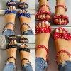 Topánky - dámske topánky - dámske letné bodkované sandále s mašľou - dámske sandále - šľapky