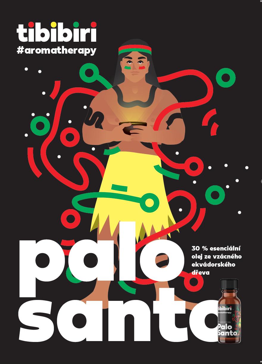 Esenciální olej Palo santo s moringovým olejem