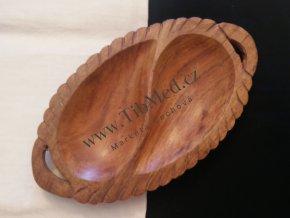 Miska dřevěná - kapky
