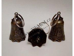Malý kovový zvoneček pro štěstí