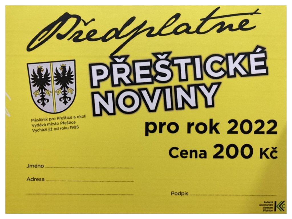 Předplatné Přeštických novin