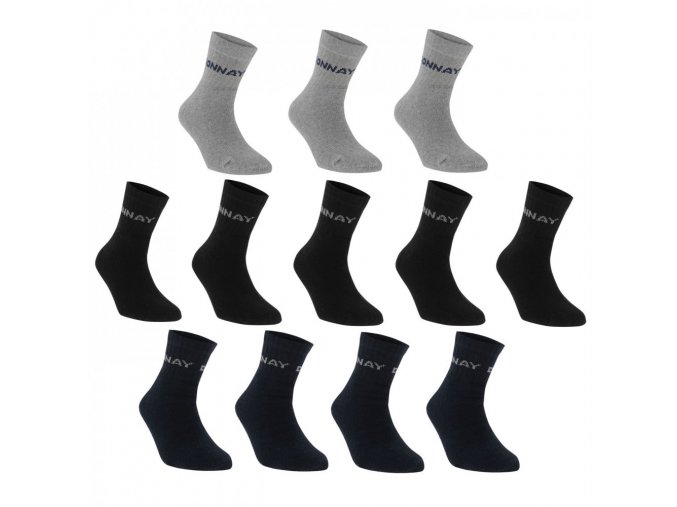 Donnay Quarter Socks 12 Pack Mens
