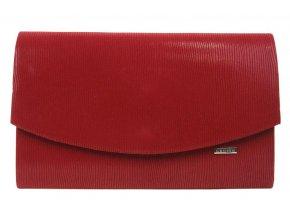 Karmínovo červená spoločenská listová kabelka SP128 GROSSO