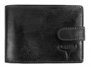 Kožená čierna pánska peňaženka RFID v krabičke BUFFALO WILD
