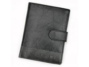 Kožená čierna pánska peňaženka RFID WILD