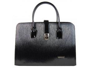 """Čierna vrúbkovaná elegantná dámska aktovka / taška na notebook 15.6 """"ST02 GROSSO"""