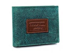 Kožená zelená pánska peňaženka v krabičke RFID Forever Young