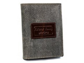 Kožená šedá pánska peňaženka RFID v krabičke Forever Young