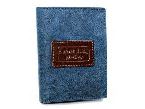 Kožená modrá pánska peňaženka RFID v krabičke Forever Young