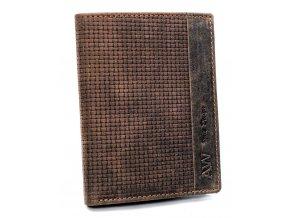 Kožená modrá pánska peňaženka v krabičke Always Wild