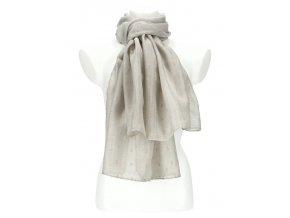 Dámska letná jednofarebná šatka / šál 180x90 cm sivá