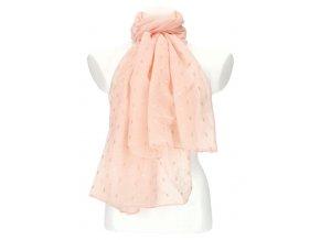Dámska letná jednofarebná šatka / šál 180x90 cm ružová