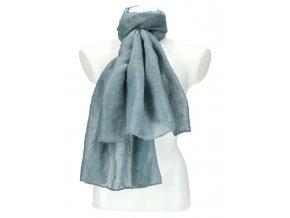 Dámska letná jednofarebná šatka / šál 180x90 cm modrá