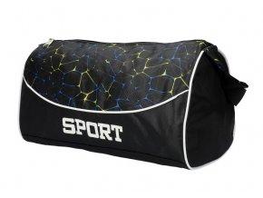Čierna menšia športová taška Unisex 8105 M1