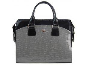 PUNCE LC-01 sivá dámska kabelka pre notebook do 15.6 palca