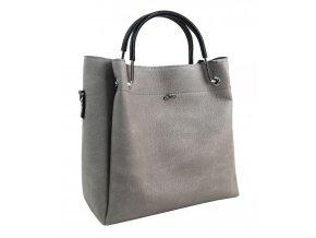 Stredne šedá elegantná dámska kabelka S728 GROSSO