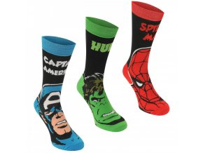 Marvel 3 Pack Crew Socks Mens