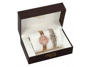 SKYLINE dámska darčeková sada zlato-ružové hodinky s náramkom R2008