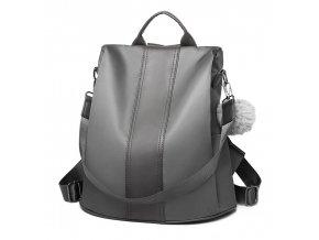 Šedý dámsky batoh / kabelka cez rameno Miss Lulu
