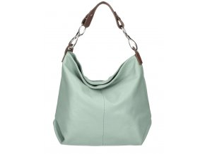 Kožená dámska kabelka Shaila mentolová zelená