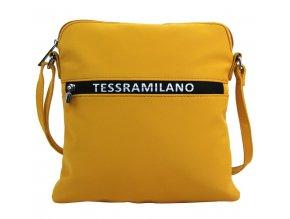 Športová crossbody dámska textilná kabelka 5329-BB žltá