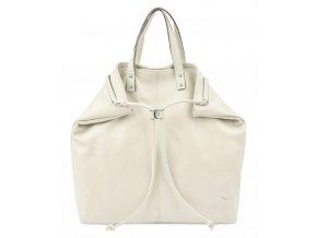 Pierre Cardin Kožená veľká dámska kabelka do ruky / ruksak béžová