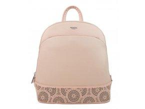 Ružový elegantný dámsky batoh / kabelka 5234-TS