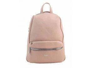 TESSRA MILANO Elegantný ružový dámsky ruksak / kabelka 4944-TS