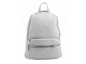 TESSRA MILANO Elegantný svetlo sivý dámsky ruksak / kabelka 4944-TS