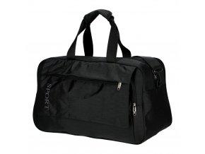 Čierna športová taška Unisex velká