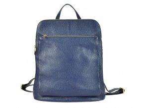 Kožený dámsky módny batôžtek s čelným vreckom Patrizia Piu tmavo modrý
