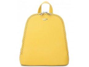 Žltý dámsky batôžtek / kabelka s dvoma oddielmi